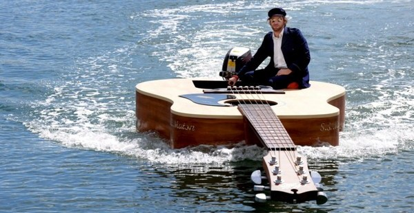 bateau guitare